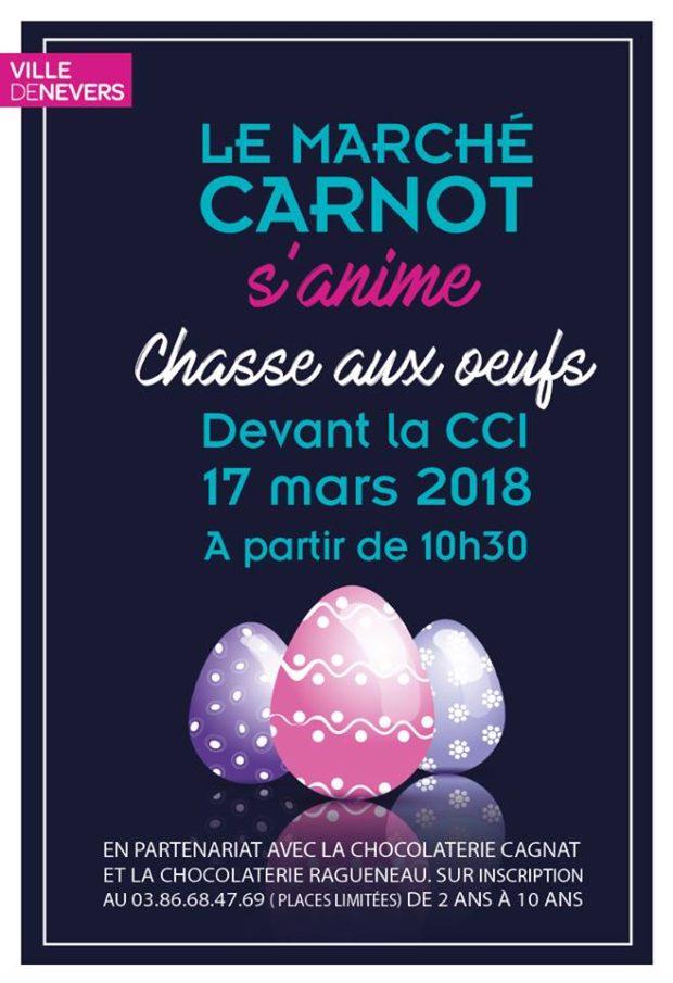 marché Carnot chasse aux oeufs 17 mars 2018